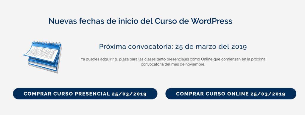 Curso de WordPress Barcelona