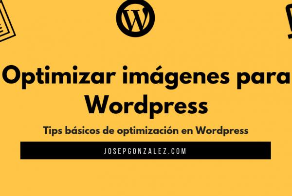 reducir peso imágenes wordpress